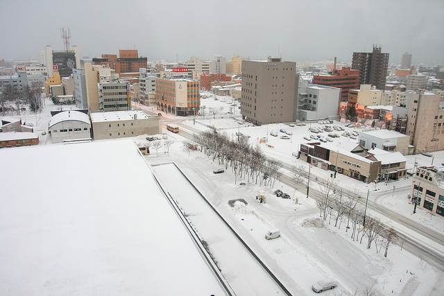 冬の苫小牧市の風景